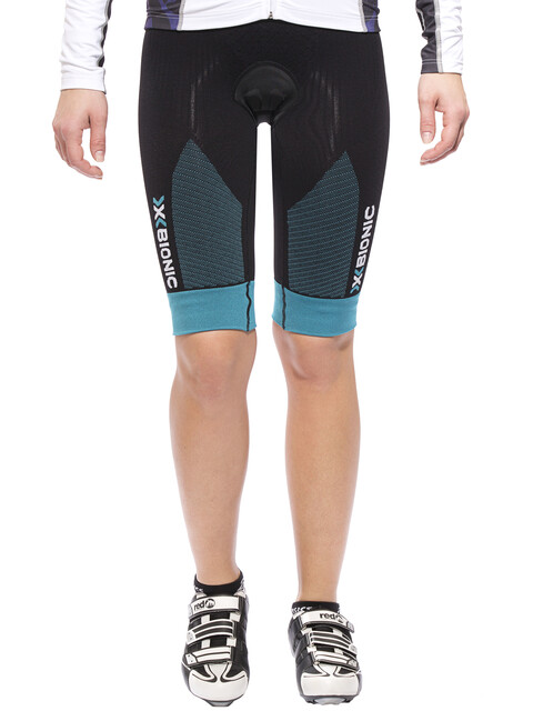 X-Bionic Effektor Power Biking Bib Tight Short Women Black/Turquoise